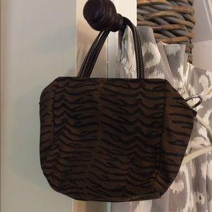 Fendi Mini Canvas and Leather Handbag - Authentic